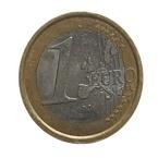 1 euro munt Macro foto