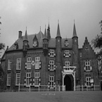 Kasteel Maurick Vught in zwart wit