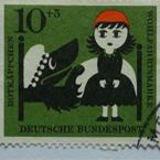 Postzegel Roodkapje Deutsche Bundespost