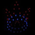 Lichtjes route kroon blauw rood