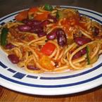 Spaghetti met Kidneybonen